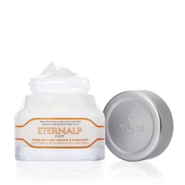 Crème Anti-Age Hydratante Lissante Visage Eternalp 2040m 50ml | Anti-Age Hydratant Lissant Edelweiss Cellules Souches | L'ALPAGE Suisse